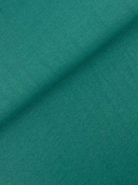 Baumwolljersey BLACK-melange Grasgrün