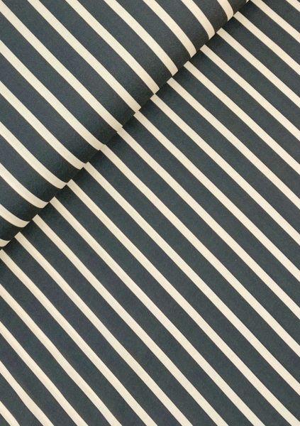 Viscose-Webware Streifen Dunkelgrau