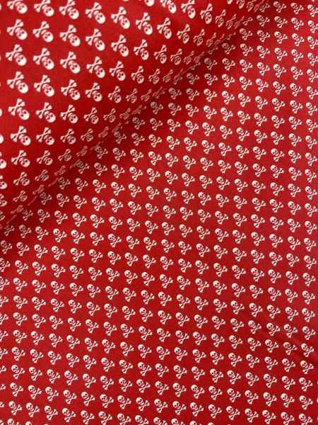 Baumwolle Mini Serie Totenkopf Rot