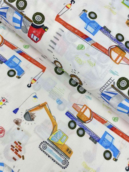Baumwolle Ökotex Zeichnung Fahrzeuge