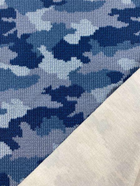 Camouflage Strickoptik Blau