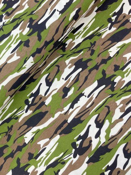 Baumwolljersey Ökotex Camouflage Original
