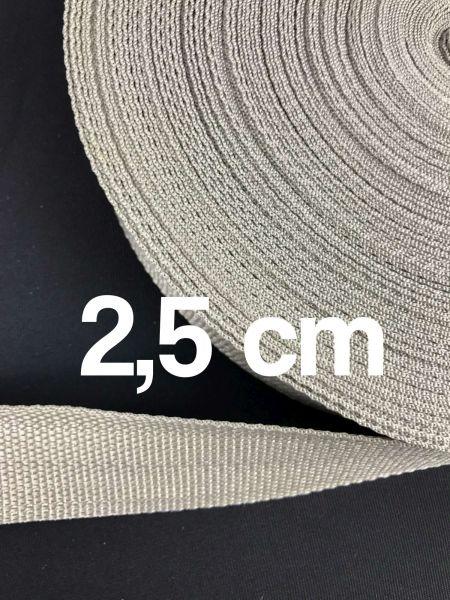 Gurtband 2,5 cm Breit Silber