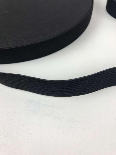 Gummiband 2cm Schwarz Uni