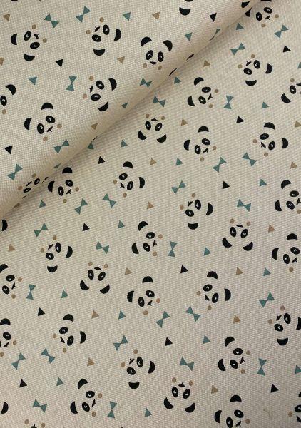 Dekostoff Canvasoptik Panda