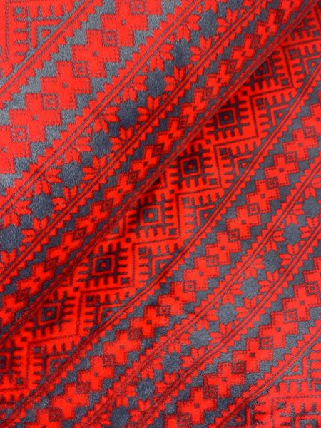 Wellnessfleece Norweger Rot Grau