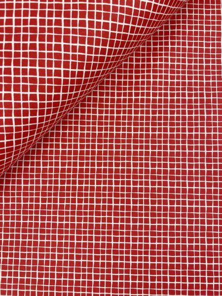Baumwolle Mini Serie Fischernetz Rot