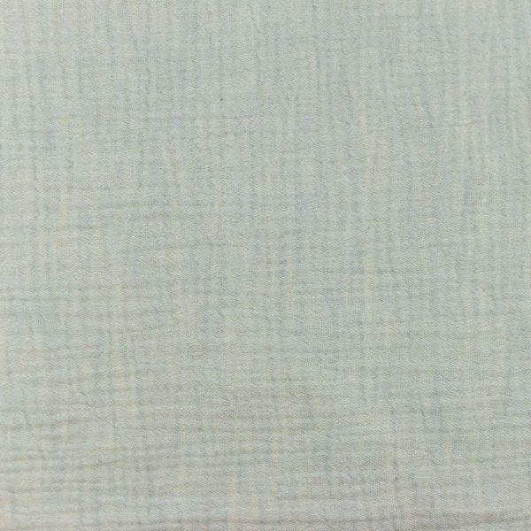 Musselin Melange Hellblau