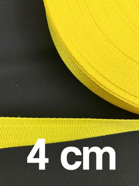 Gurtband 4 cm Breit Gelb