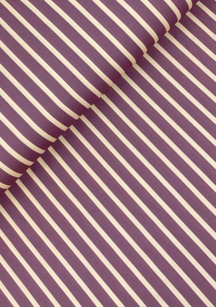 Viscose-Webware Streifen Flieder
