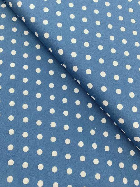 Baumwolle Design by Poppy Punkte Gross JEANSBLAU
