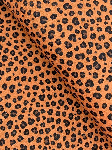 Baumwolle Ökotex Leopardenmuster Terra