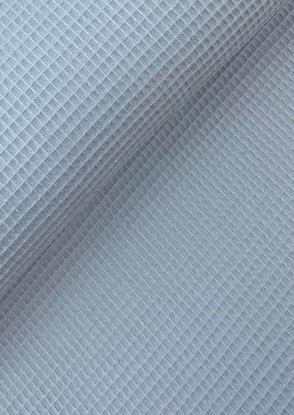 Waffel-Piqué Taubenblau