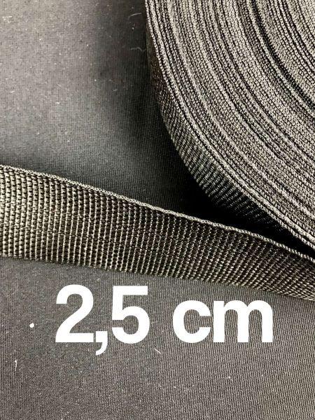 Gurtband 2,5 cm Breit Schwarz