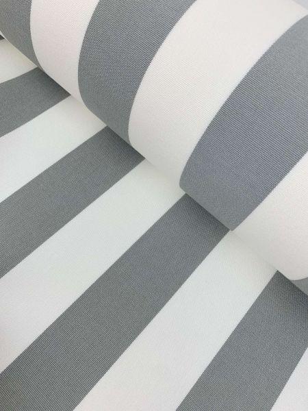 Outdoorstoff Teflon Blockstreifen Grau