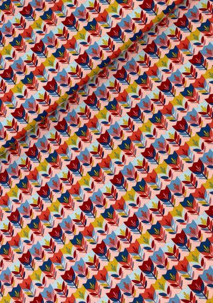 Baumwoll-Webware Happy Tulip Rosa