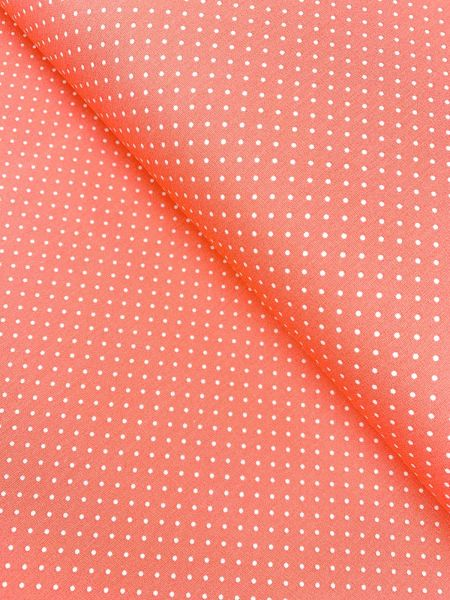 Baumwolle Design by Poppy Punkte Klein KORALLE