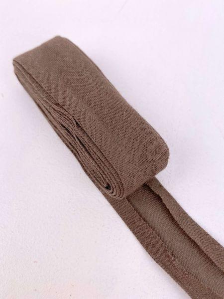Schrägband Baumwolle Braun