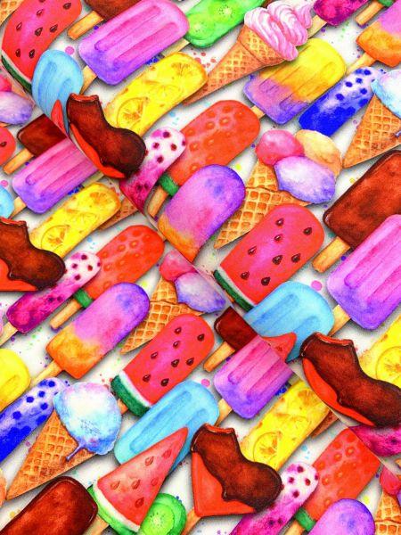 Baumwolle DIGITALDRUCK Eis