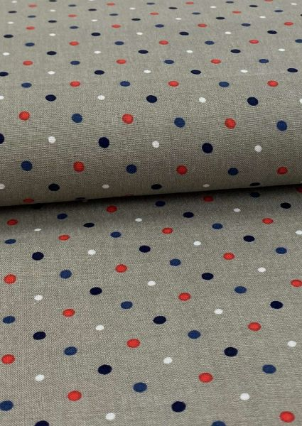 Viscose Little Dots Taupe