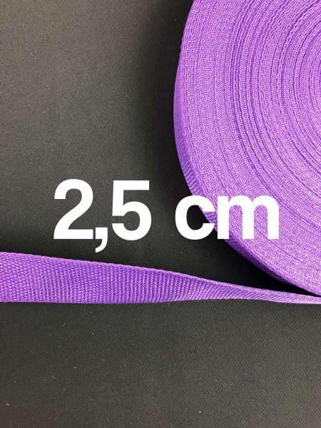 Gurtband 2,5 cm Breit Lila