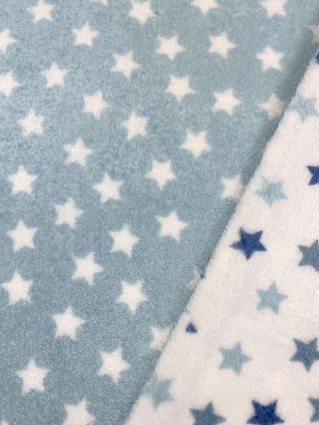 Wellnessfleece Doubleface Stars Mint