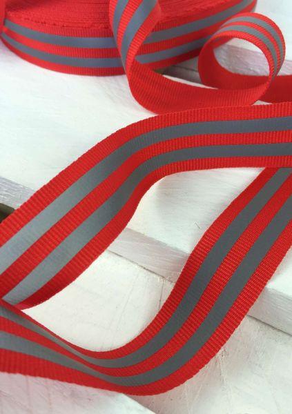 Reflektierendes Band Rot 2,5cm
