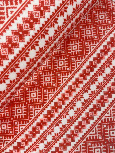 Wellnessfleece Norweger Rot Weiß