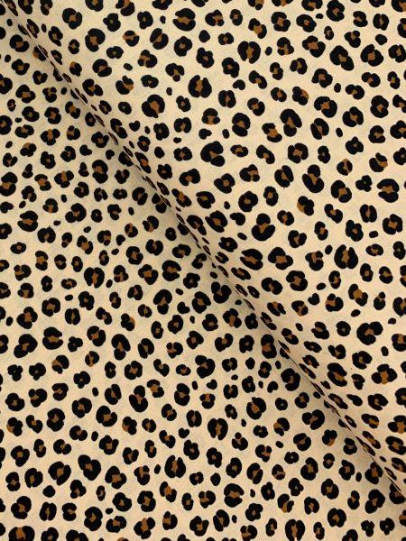Baumwolle Ökotex Leopardenmuster Natur