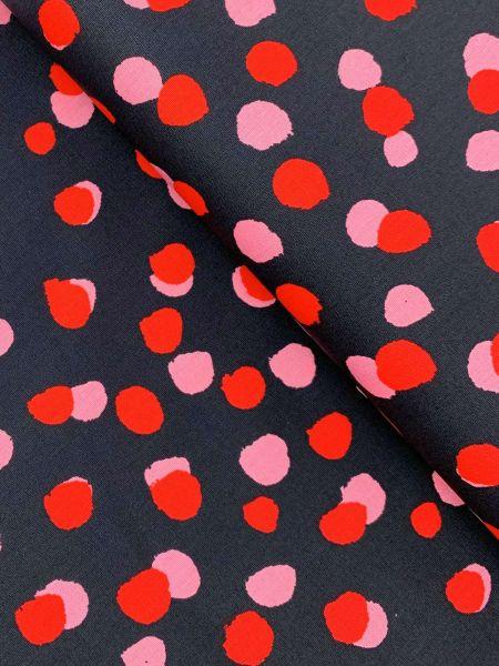 Baumwolle Blurry Dots Schwarz
