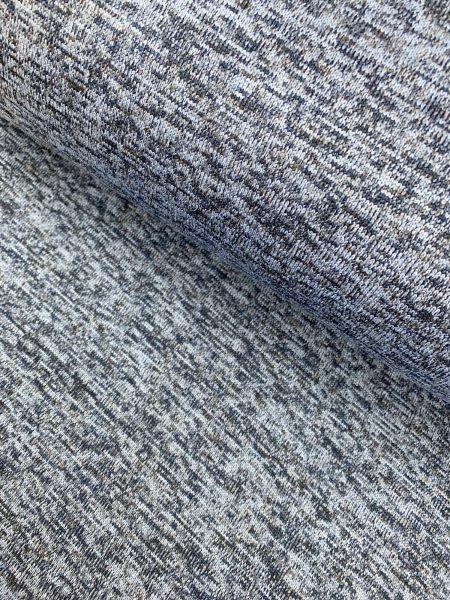 Kuschel-Strick Fleece melange Blau2