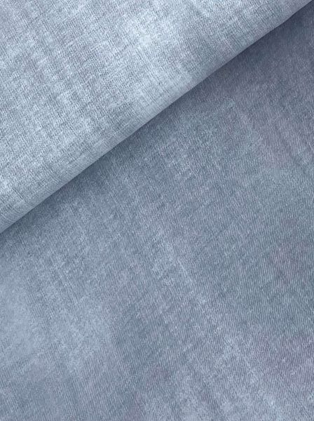 T-Shirt-Stoff ÖKOTEX Jeansoptik HELLBLAU