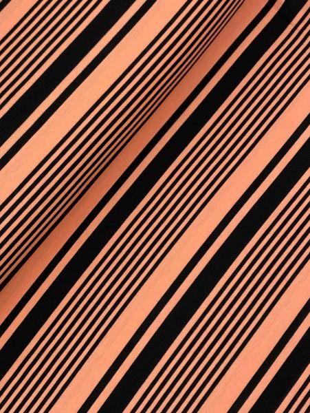 Romanit Jersey Streifen Lachs