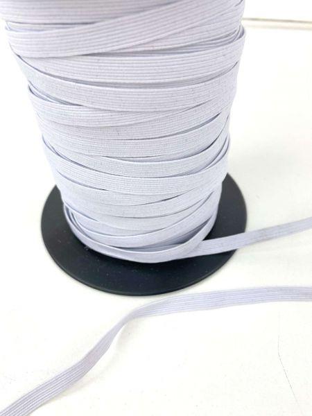 Maskengummi Elastisch Flach 6 mm Weiß