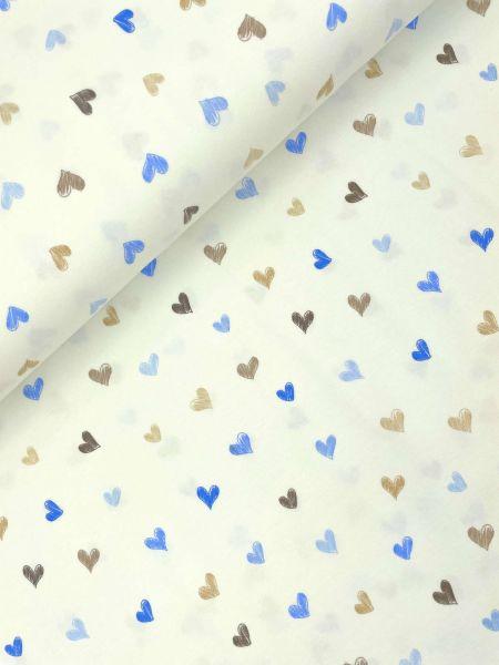 Baumwolljersey Snoozy Heart Blau
