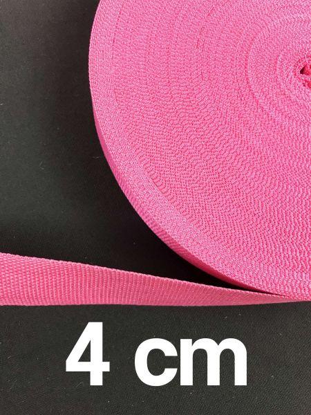 Gurtband 4 cm Breit Pink