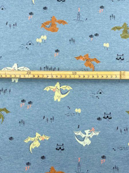 Viscosejersey Ökotex Aquarell Blume Lila