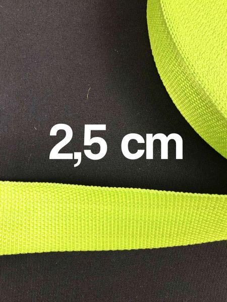 Gurtband 2,5 cm Breit Lime