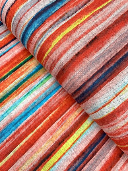 Viscose/Polyester Aquarell Streifen2