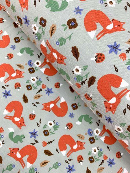French Terry Autumn Fox Grau