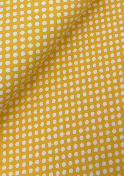 Baumwolljersey ÖKOTEX Punkte Gelb-Weiß