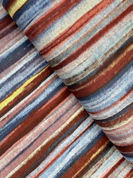 Viscose/Polyester Aquarell Streifen3
