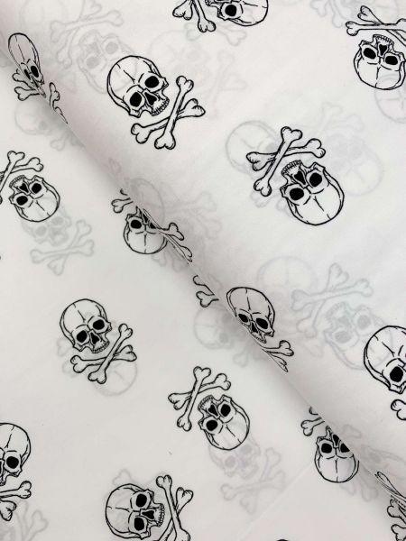 Baumwolle Skully GROSS Weiss
