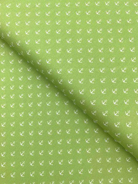 Baumwolle Design by Poppy Anker Klein HELLGRÜN