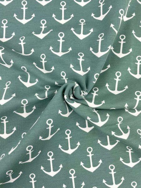 Baumwoll-Jersey Fussball Streifen ROT/WEISS