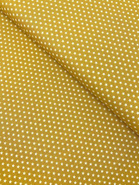 Baumwolle Design by Poppy Sterne Klein SENFGELB