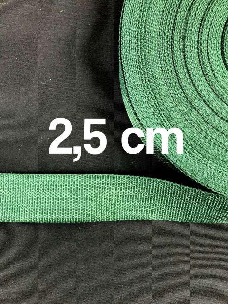 Gurtband 2,5 cm Breit Dunkelgrün