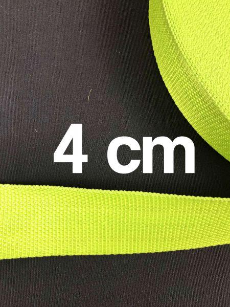 Gurtband 4 cm Breit Lime