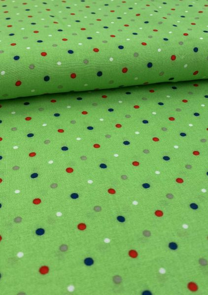 Viscose Little Dots Grün