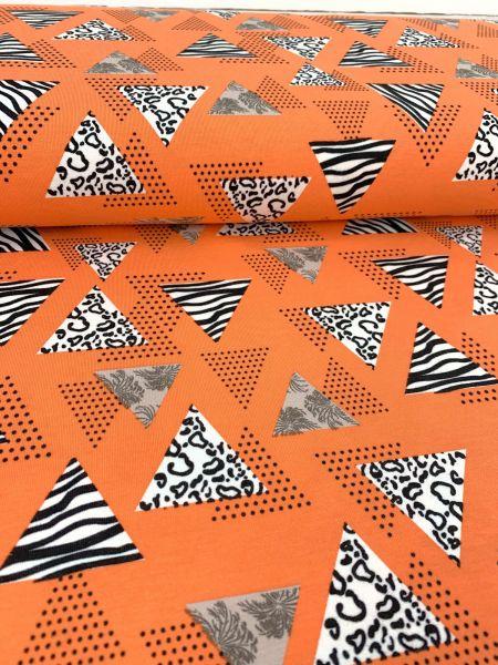 Baumwolljersey 80er Orange